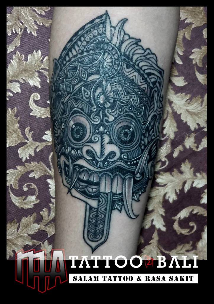 Two-faced Barong Mask by MA TATTOO