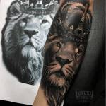 King lion tattoo by Ukix Tattoo