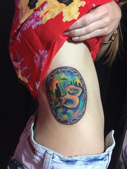 Mermaid watercolor tattoo by Bimz Gardenink