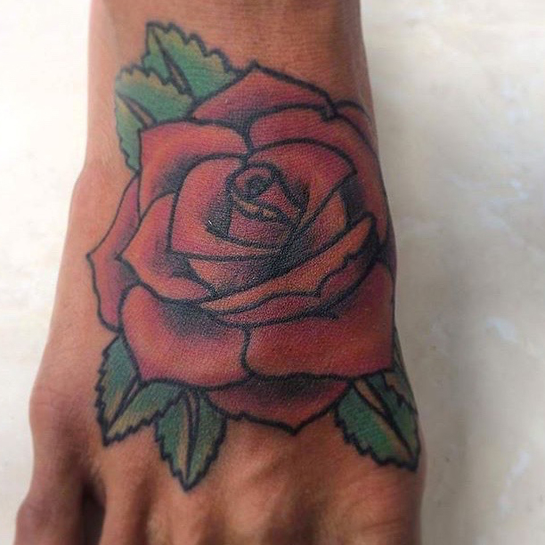 Rose Tattoos Done In Bali Line Tattoos Red Roses Realistic Rose