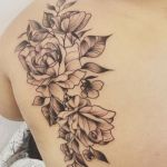 rose line tattoo by Fandem Fay