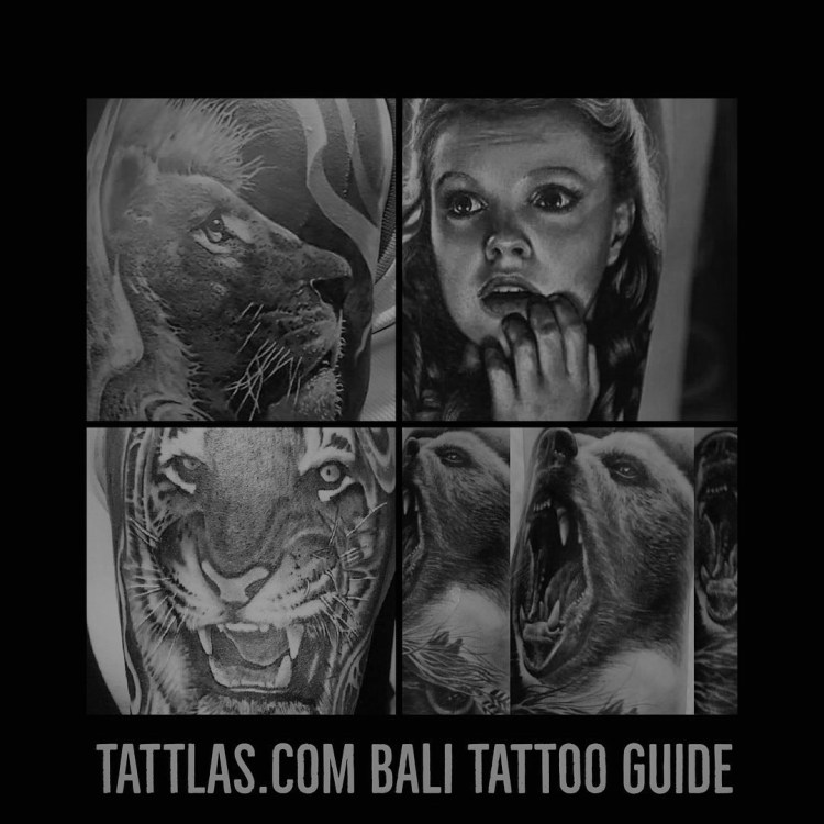 Bali tattoos lions tigers bears