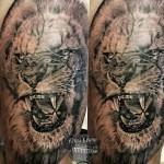 Lion Bali tattoo artist Memen