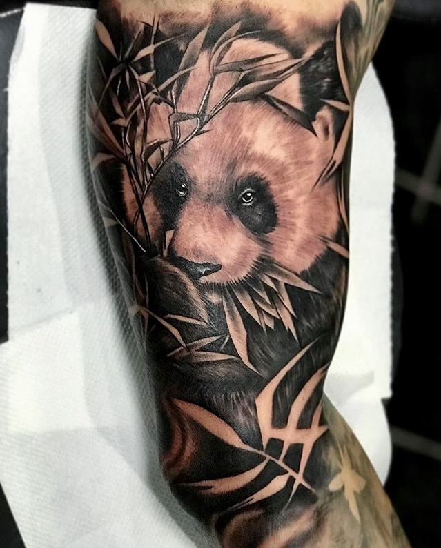 Panda Bear Tattoo by Koko Art 999 Flash Ink Legian