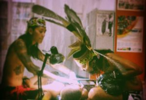 hand tapping in Bali