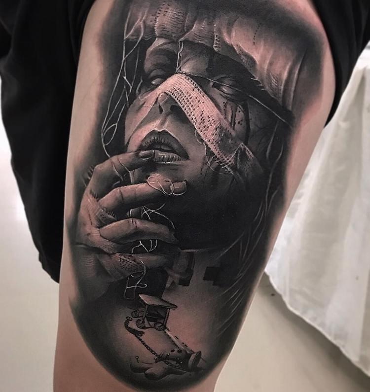 Best Black and Grey Tattoo