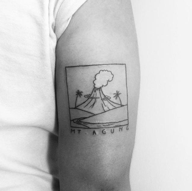 Bali volcano tattoo by Happy Tattoo