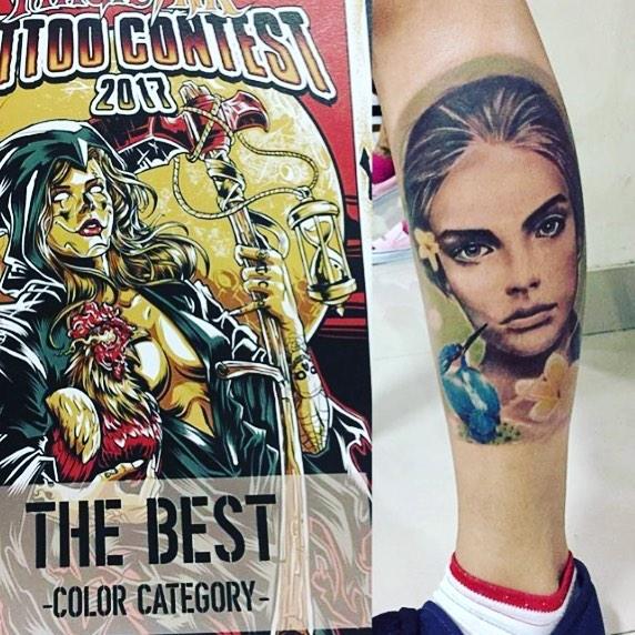 Best Color Tattoo: Mas Bowo