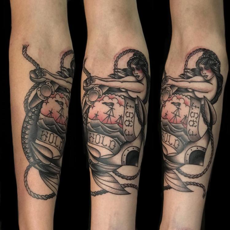 Mermaid tattoo by Ucok, Luxury Ink Bali