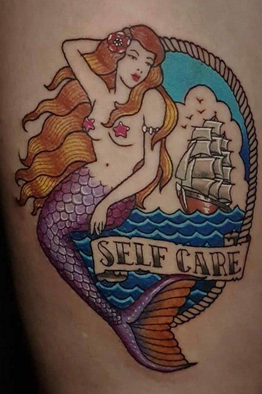 Neotrad Purple Bali Mermaid Tattoo by Ricky TNT Jan 2019
