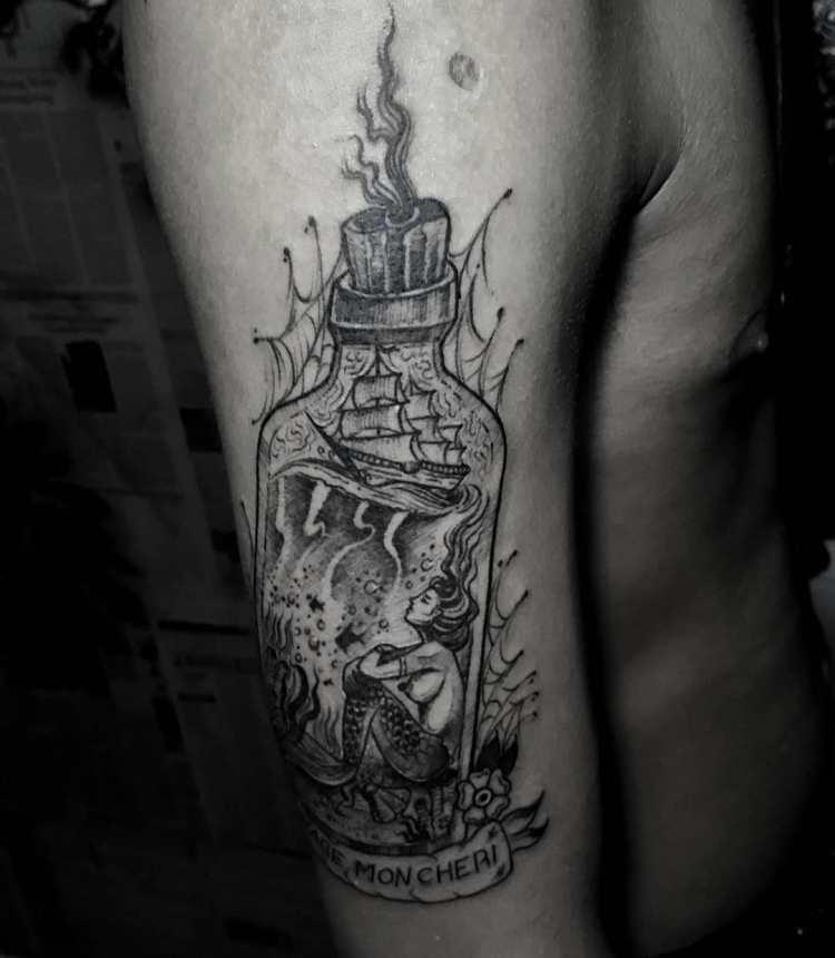 Tatouage de sirène avec Gayus Bali