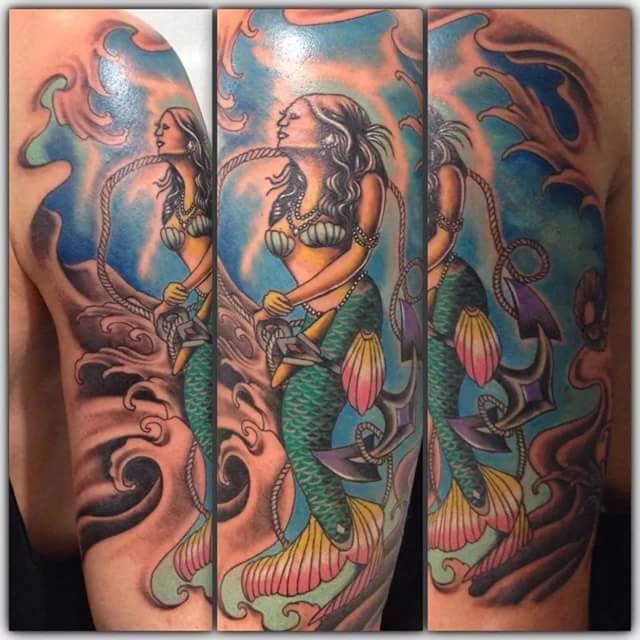 Bali mermaid tattoo by Jhon Kidal
