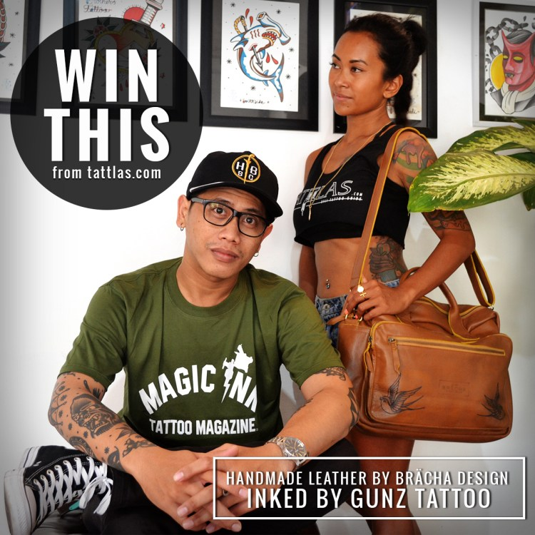 Tattlas Tattooed Leather Bag Instagram Giveaway