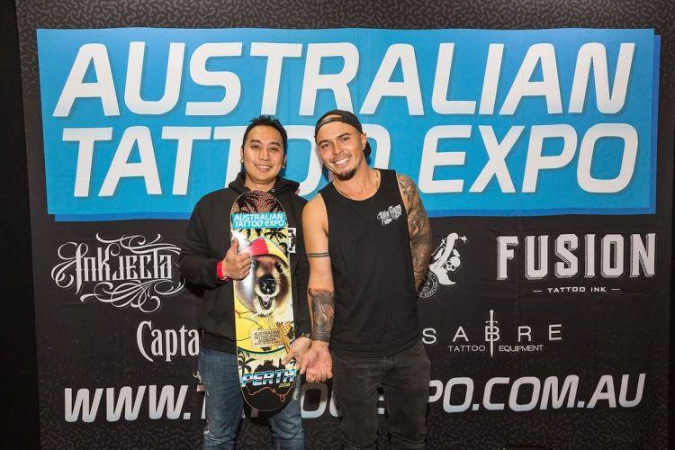 Goper Ink wins best small black and grey Australian Tattoo Expo winners 2018 tattoo