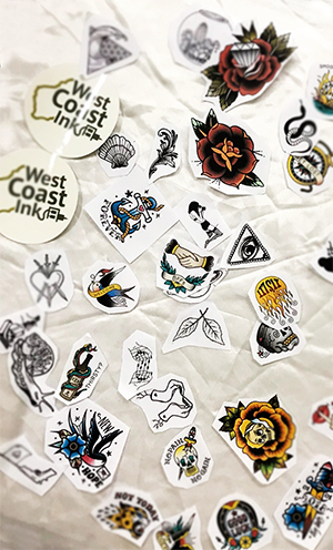 Flash tattoo designs available at West Coast Ink Bali