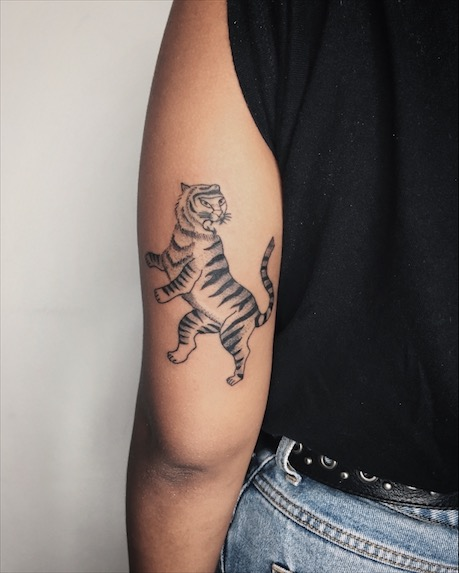 tiger outline tattoo