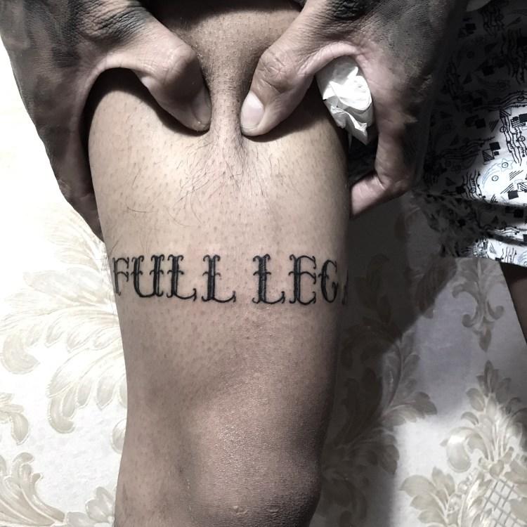 lettering tattoo by cltatts.bali