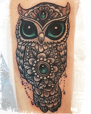 Powerink – Tattoo Eule