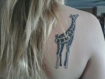 Giraffe Back Tattoo