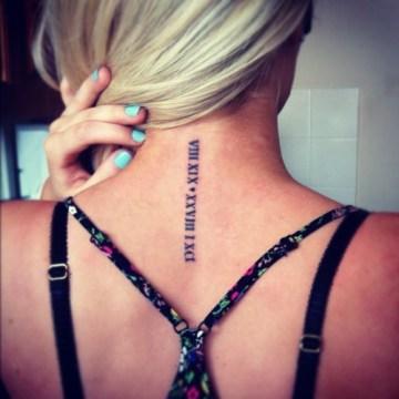 Date Tattoo Idea