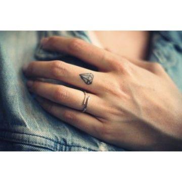 Minimal Finger Diamond Tattoo