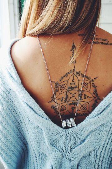 Lovely Back Tattoo