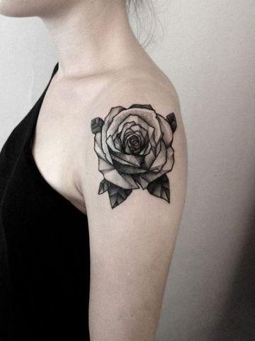 Black Rose Shoulder Ink