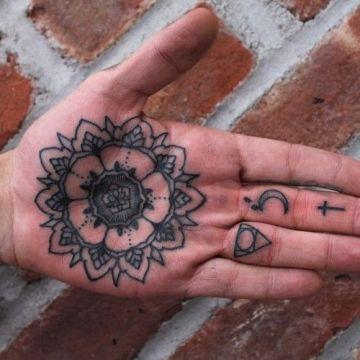 Mandala Palm Tattoo