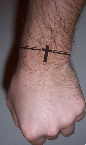 Small Cross Tattoo Design