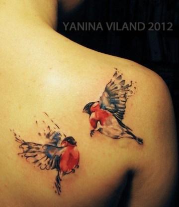 Watercolour Birds by Yanina Viland