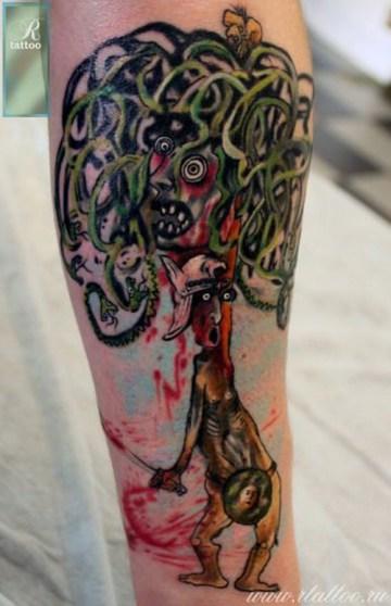 Perseus & Medusa Tattoo