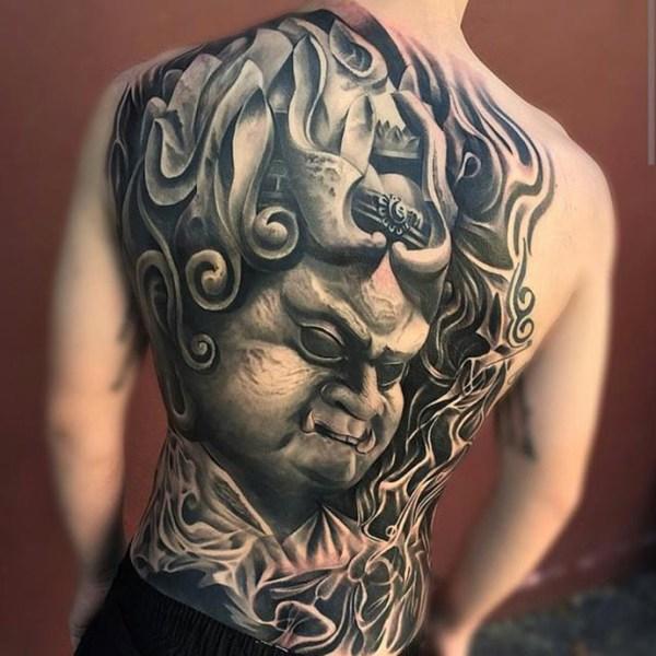 Japanese Sculpture Full Back Best tattoo design ideas