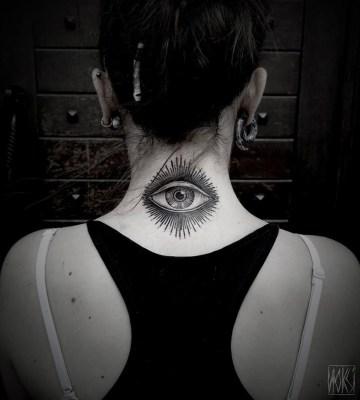 Eye Neck Tattoo