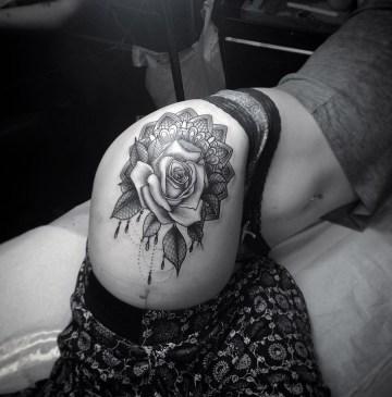 Rose & Lace Mandala