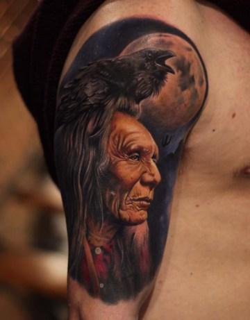 Indian Raven & Moon