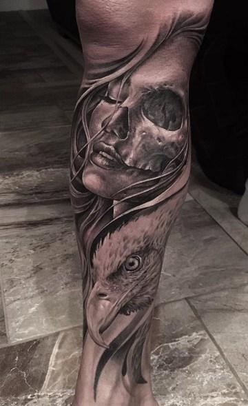 Portrait, Skull & Eagle