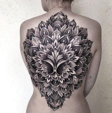 3D Mandala Back Tattoo