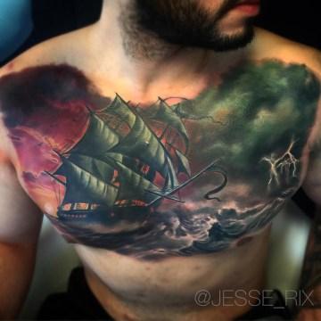 Storm Sailing Ship