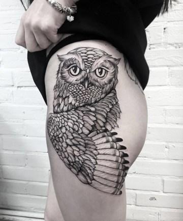 Owl On Hip