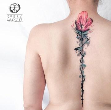 Tulip on Girls Spine & Neck