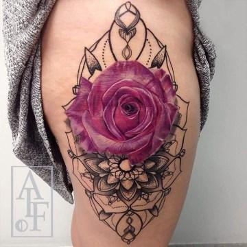 Pink Rose & Mandala