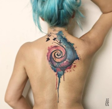 Spiral cover up piece