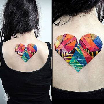 Geometric Heart Back Piece