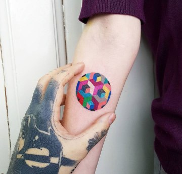 Colorful Geometric Circle