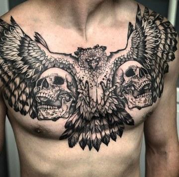 Harpy Eagle Chest Tattoo