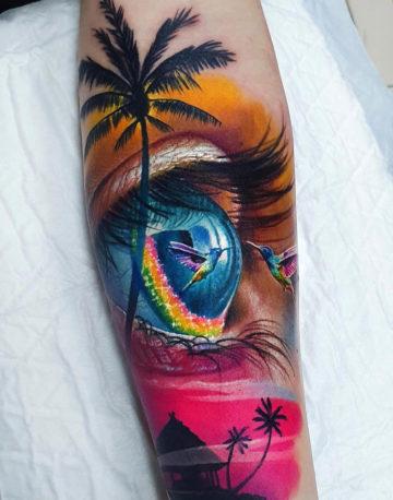Hummingbird & Eye