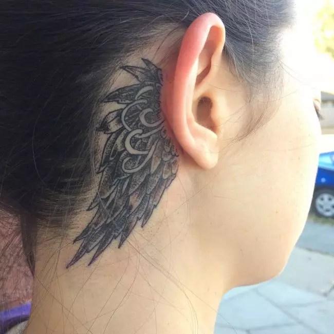 behind the ear tattoos
