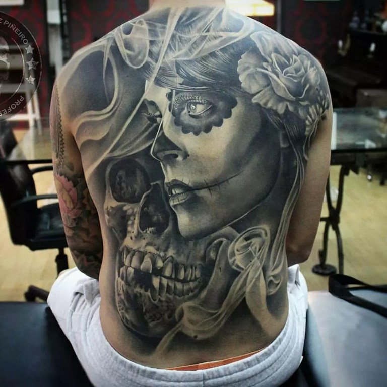 85 Best Sugar Skull Tattoo Designs & Meanings [2019]
