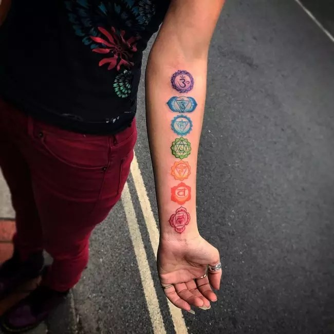 Spiritual Chakra Tattoos