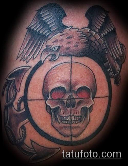 фото тату прицел (tattoo sniper scope) (значение) - пример ...